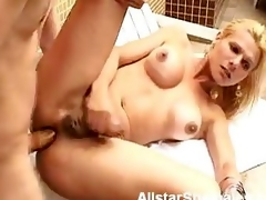 Blonde Shemale with Big Tits Anal