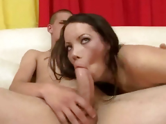 Three sexy shemale pornstars have some group sex
